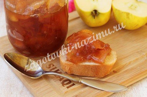 Варенье из яблок с прозрачными дольками