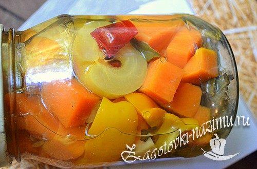 Рецепт маринованной тыквы с яблоками