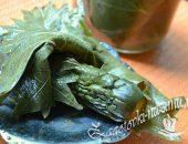 Огурцы в виноградных листьях – пошаговый рецепт
