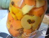 Маринованная тыква с яблоками