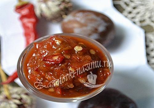 Домашний соус чили на зиму - рецепт