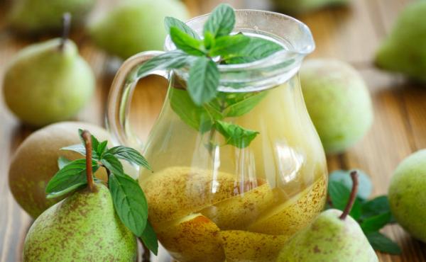компот из груш с соком лимона