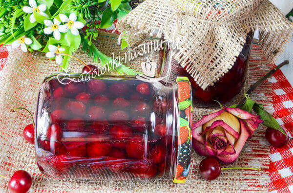 вишневое варенье «Пятиминутка» с косточками готово