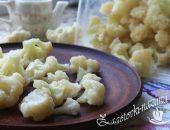 Как заморозить цветную капусту в морозилке