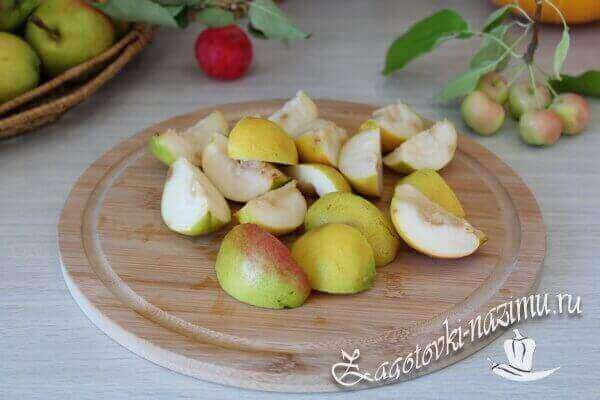 Компот из яблока и груши с лимоном - рецепт пошаговый с фото