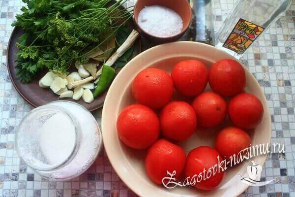 Продукты для соления помидор