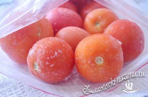 Как правильно заморозить помидоры на зиму