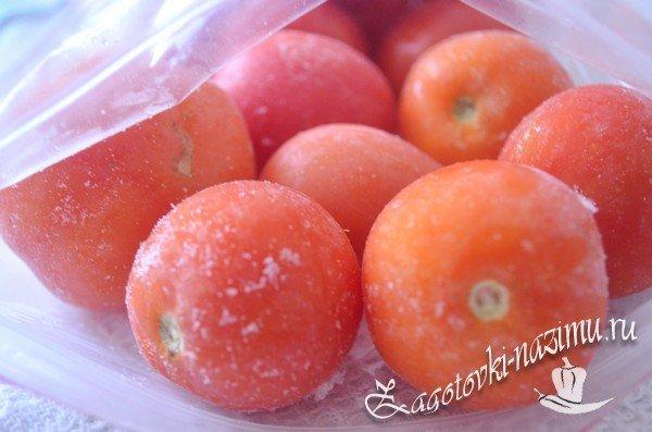 Как заморозить помидоры на зиму в морозилке свежими