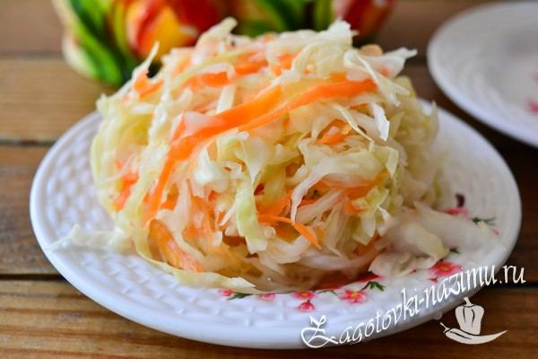 Капуста квашеная с хреном и морковью