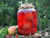 Компот из персиков на зиму рецепт на 3 литровую банку