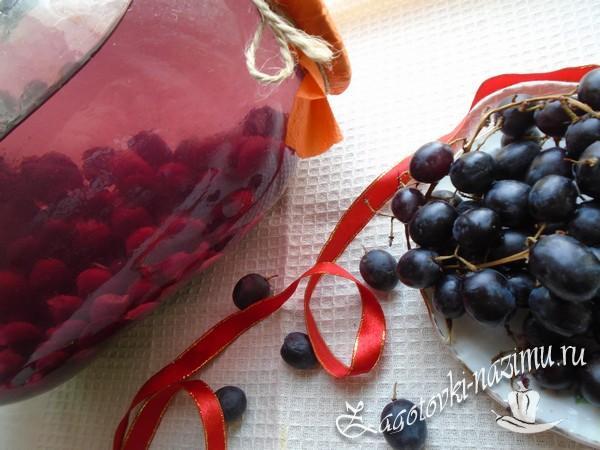 Компот из винограда на зиму без стерилизации