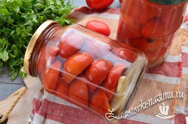 Маринованные помидоры дольками на зиму