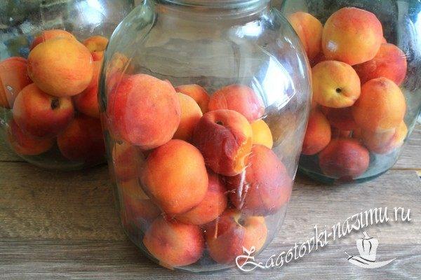 Разложить персики