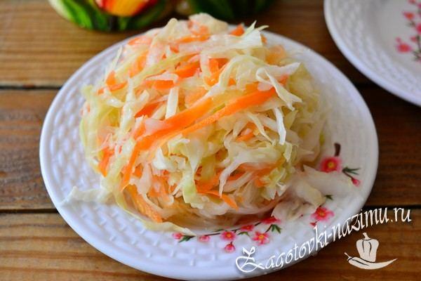 Рецепт квашенной капусты с хреном