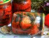 Салат из баклажанов «Огонёк» на зиму