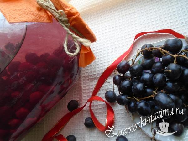 Вкусный компот из винограда на зиму