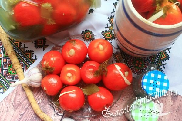 Вкусный рецепт малосольных помидор