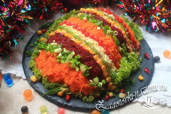 Салат «Новогодняя хлопушка» рецепт с фото