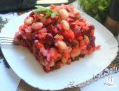 Винегрет с фасолью рецепт классический, пошаговый рецепт с фото