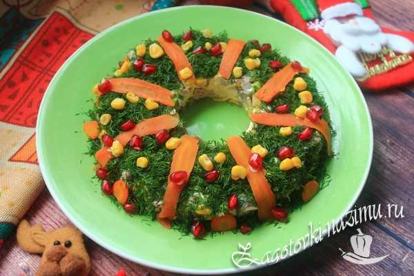 Салат «Рождественский венок» рецепт с фото пошагово