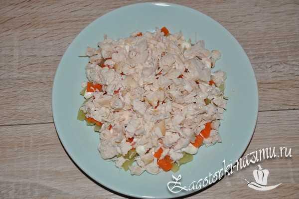 Выложить на салат
