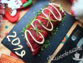 Салат «Селедка под шубой» рулетом рецепт с фото