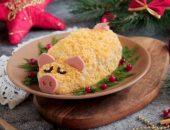 Салаты в виде Свиньи на Новый год 2019 пошаговые рецепты с фото