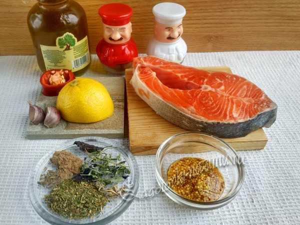 ингредиенты для маринованной семги