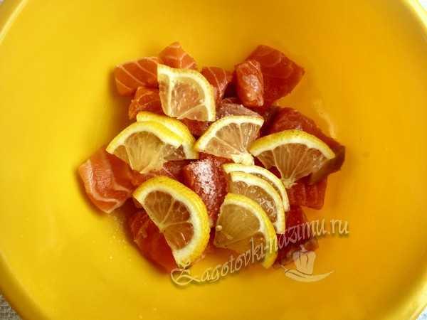 выложить лимон