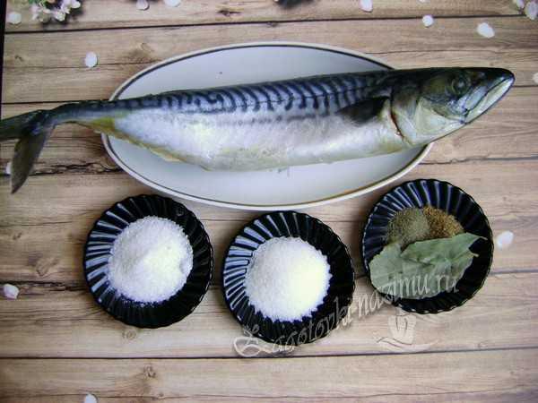 ингредиенты для скумбрии сухого посола