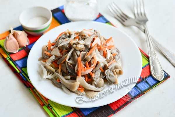Грибы вешенки по-корейски - рецепт с фото и пошаговым приготовлением в домашних условиях