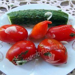 Малосольные огурцы и помидоры в пакете, рецепт