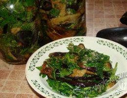 баклажаны с зеленью и чесноком