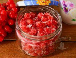 Калина с сахаром на зиму без варки – рецепт с фото пошагово