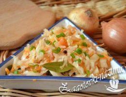 Капуста квашеная с морковью: рецепт с фото