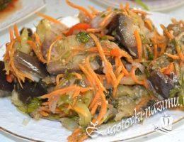 Баклажаны квашеные с чесноком и морковью