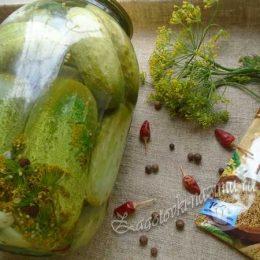 Огурцы маринованные с укропом и чесноком на зиму – рецепт с фото пошагово