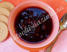 рецепт варенья из вишни с малиной