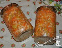 Рис с овощами на зиму рецепт