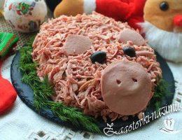 Салат Оливье «Свинка» - рецепт классический