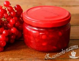 Варенье из калины красной - рецепт простой